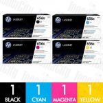 HP CF460X-CF463X (656X) 4 Pack Genuine Toner Cartridge Combo