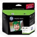 HP 61XL Photo Paper Value Pack (J3N03AA) High Yield Genuine Inkjet Cartridges J3N03AA