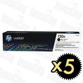 HP 130A (CF350A) Black 5 Pack Genuine Toner Cartridge