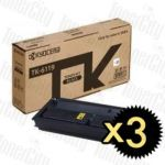 Kyocera TK-6119 Black 3 Pack Genuine Toner Cartridge