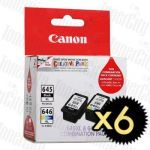 Canon PG645XLCL646XLCP (PG-645XL, CL-646XL - Twin Pack) 12 Pack High Yield Genuine Inkjet Cartridges combo